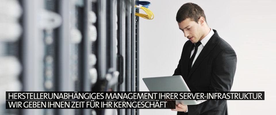 Herstellerunabhängiges Management Ihrer Server-Infrastruktur Wir geben Ihnen Zeit für Ihr Kerngeschäft