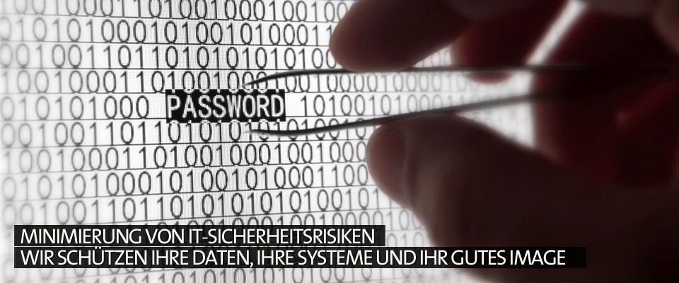 Minimierung von IT-Sicherheitsrisiken Wir schützen Ihre Daten, Ihre Systeme und Ihr gutes Image